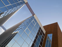 Office Building. Modern office building with glass and iron walls Stock Photography