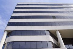 Office Building. Architecture of office building defines a strong linear pattern Stock Images