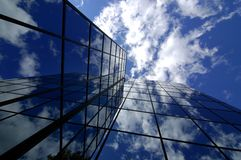 Office Building. Reflecting sky and clouds Royalty Free Stock Photo