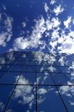 Office Building. Reflecting sky and clouds Royalty Free Stock Images
