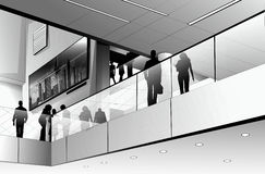 Office Building. And Business People Silhouette Royalty Free Stock Images