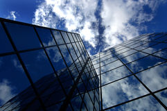 Office Building. Reflecting sky and clouds Royalty Free Stock Image