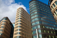 Office Building. Row of modern office buildings of concrete and glass Royalty Free Stock Photos