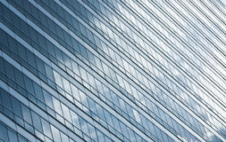 Office building. Sky reflection in office building Royalty Free Stock Photo