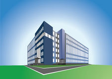 Office building. On blue background, made in vector redactor Royalty Free Stock Photo