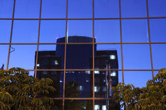 Office building. An office building with the reflection of another building in Anaheim,CA Stock Photography
