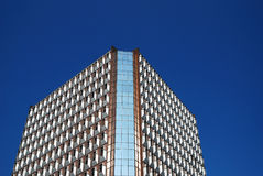 Office building. Modern office building with blue sky background in guangzhou city Royalty Free Stock Photography