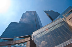 Office building. An imposing office building rising up Stock Image