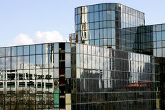 Office building. Dark glass office building in Seattle Stock Photos