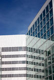 Office building. Modern white office building with straight lines Royalty Free Stock Photo