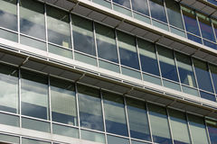 Office Building. Several floors of a modern glass office building royalty free stock photos