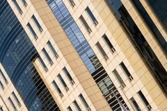 Office building. Corporate building with many office windows Royalty Free Stock Photo