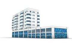 Office building 3d illustration Stock Image