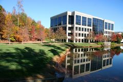 Office Building. In the Autumn Season stock photos