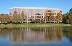 Office Building. In Front of a Lake Royalty Free Stock Photo