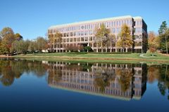 Office Building. In Front of a Lake Royalty Free Stock Images