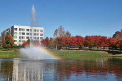Office Building. In Front of Lake Stock Photography
