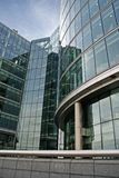 Office Building. With see-through glass windows stock image