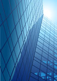 Office building. Vector-illustration of a modern office building with glass front and reflexion Stock Photo