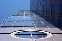 Office Building. Looking up at the sides of tall office buildings Royalty Free Stock Images