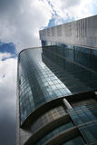 Office building. Against cloudy sky, Warsaw, Poland Royalty Free Stock Photography