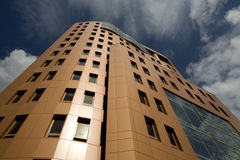Office building. A view of a new office building stock photos