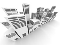 Office and building abstract city view Stock Image