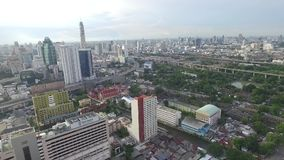 Office Building Aerial Footage. stock video footage