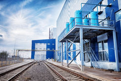 Free Office Building And The Railroad Stock Photo - 62266510