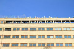 Office building with antennas Stock Photos