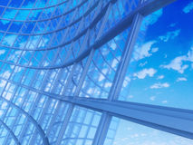 Office building on a background of the blue sky Royalty Free Stock Photography