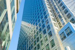 Office building background in Canary Wharf, London Stock Photos