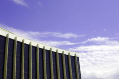 Office building on background sky royalty free stock photography
