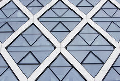 Office building blue windows. Office building diamond blue windows Royalty Free Stock Images
