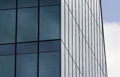 Office building blue windows. Office building rectangle blue windows Royalty Free Stock Photography