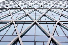 Office building. Business building. Exterior of building. Modern office Corporate business glass building and   sky Stock Photography