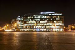 Office Building called the Metropolitan at night Royalty Free Stock Photo
