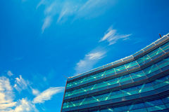 Office building close up. Financial Corporate building Skyscrapers Stock Image