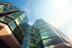 Office building close up. Financial Corporate building Skyscrapers ceter Royalty Free Stock Photography