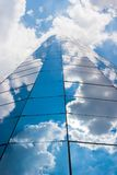 Office building on a cloudy day.Blue sky in the background.Cente. R angle royalty free stock photo