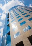 Office building on a cloudy day.Blue sky in the background.Right. Angle royalty free stock images