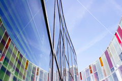 Office building with colourful glass front Royalty Free Stock Photo