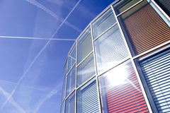 Office building with colourful glass front Stock Images