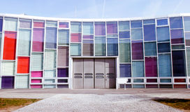 Office building with colourful glass front Stock Photo
