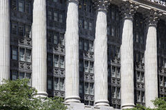 Office building with columns Stock Images