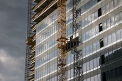 Office building construction site Royalty Free Stock Photos