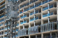 Office building construction Royalty Free Stock Images