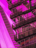 Office building detail. Detail of an office building with abstract reflection Royalty Free Stock Image