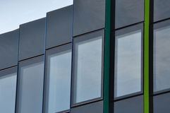 Office building - detail. Modern architecture of an office building, detail of the windows royalty free stock photos