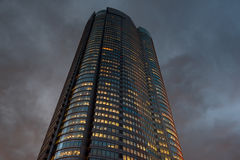 Office Building at Dusk. Royalty Free Stock Images